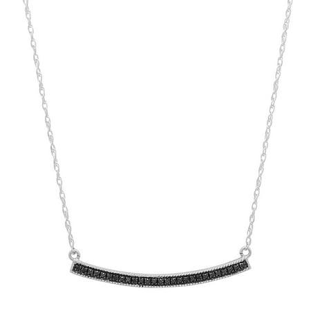 - Dazzlingrock Collection 0.10 Carat (ctw) 18K Black Diamond Ladies Fashion Pendant 1/10 CT, White Gold
