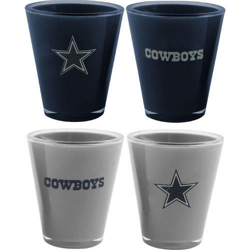 NFL - Dallas Cowboys Shot Glass Set: Acrylic 4 pack