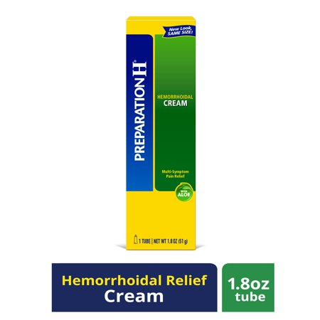 Preparation H Hemorrhoid Symptom Treatment Cream (1.8 Ounce Tube), Maximum Strength Multi-Symptom Pain Relief with Aloe Aloe Vera Pain Relief