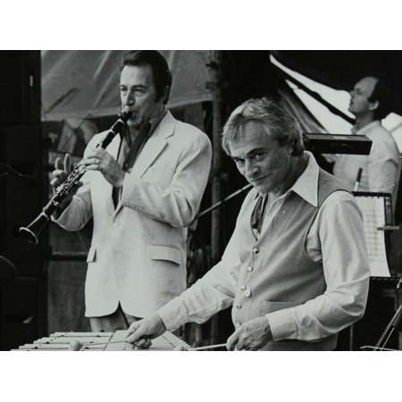 Buddy Defranco and Terry Gibbs at the Capital Radio Jazz Festival, Knebworth, Hertfordshire, 1981 Print Wall Art By Denis