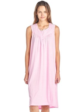 Product Image Casual Nights Women s Fancy Lace Trim Sleeveless Nightgown bd298b526