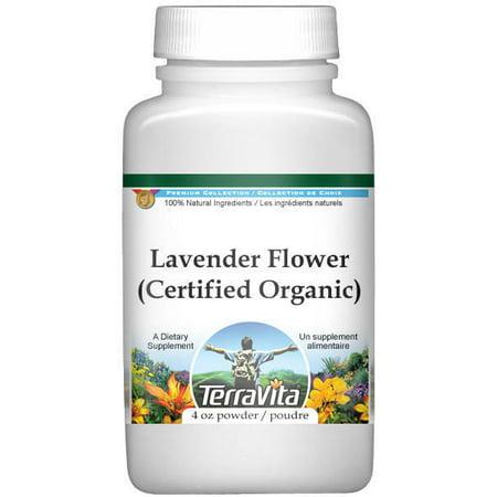 Lavender Flower (Certified Organic) Powder (4 oz, ZIN: (Lavender Flower Powder)