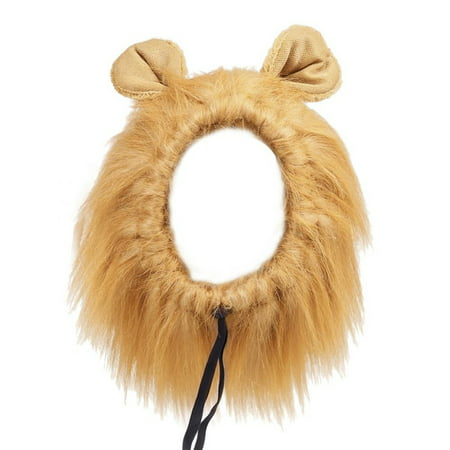 Lion Mane for Dogs,Pet Costume Wig Halloween Clothes Cosplay Fancy Dress up With Ears For Large Dogs Cats,Lion Mane for Dogs](Black Lion Chest Halloween 2017)