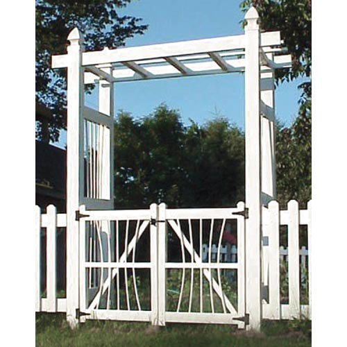 Courtyard Gate in White Finish