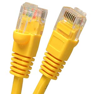 5-Pack Bundle of Arrowmounts 20 Ft Cat 5e Cat5e RJ45 Ethernet LAN Network Patch Cable Booted