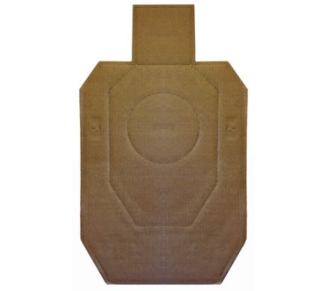 Law Enforcement Targets IDPA Official Competition Carbdoard Target 18.25x30.75 I by LAW ENFORCEMENT TARGETS