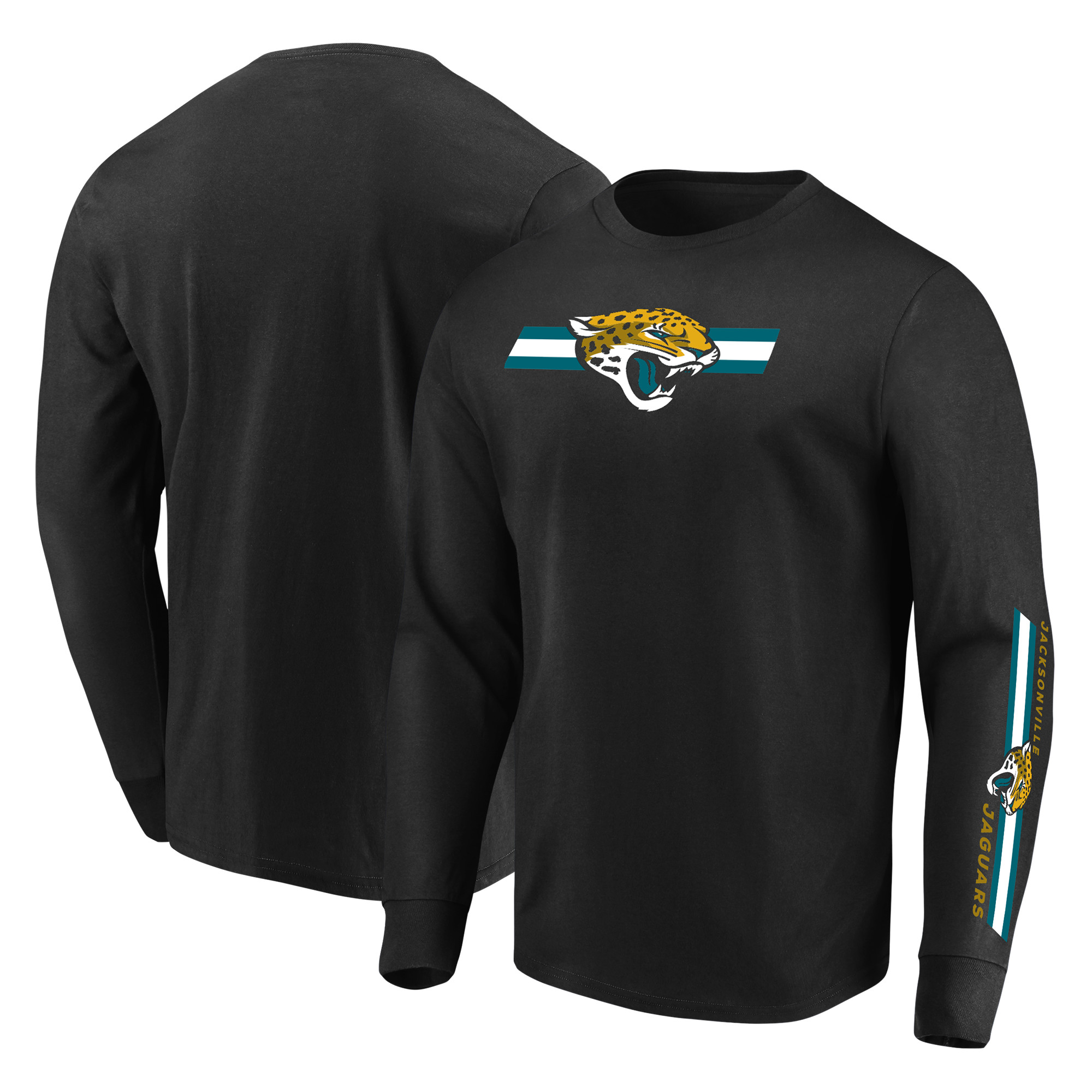 Jacksonville Jaguars Majestic Dual Threat Long Sleeve T-Shirt - Black