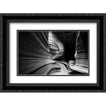 Slot Canyon Wall 2x Matted 24x18 Black Ornate Framed Art Print by Rowland, Joseph