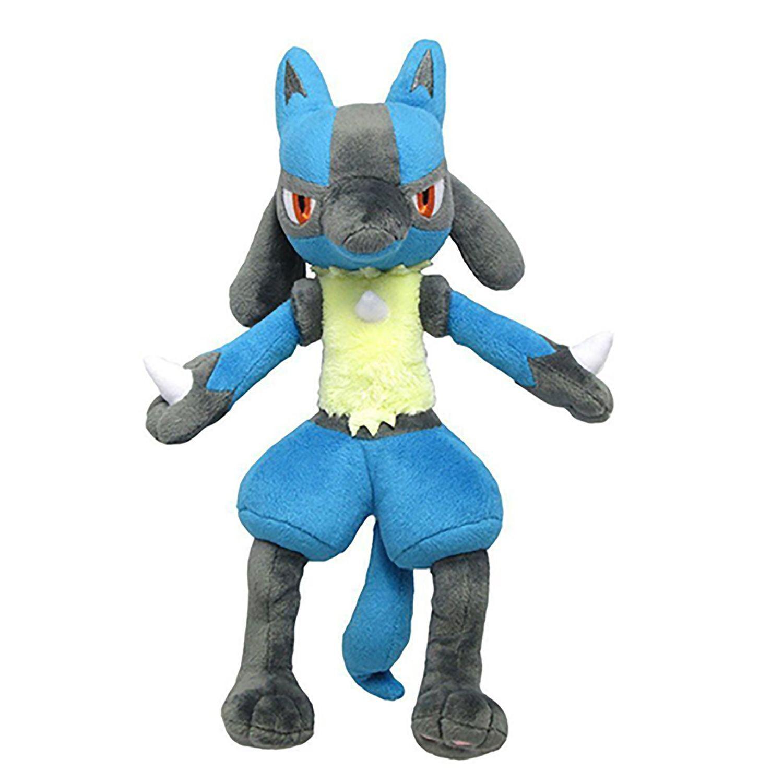 Pokemon Lucario Figure Plush Doll Soft Stuffed Toy 12 Inch Gift