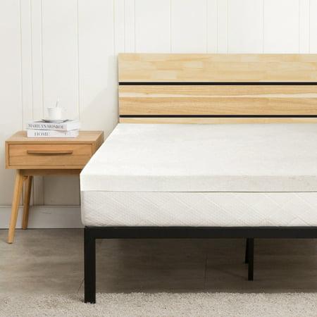 zimtown 3 queen size memory foam mattress topper single. Black Bedroom Furniture Sets. Home Design Ideas