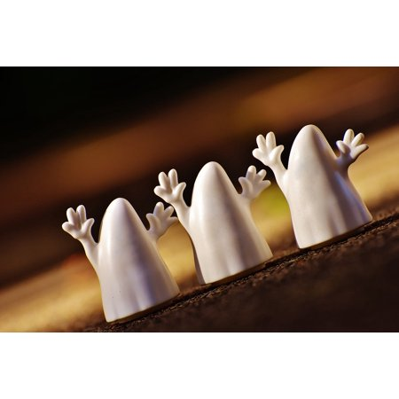 Canvas Print Autumn Ghost Ghosts Happy Halloween Halloween Stretched Canvas 32 x 24](Happy Halloween Ghouls)