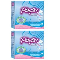 Playtex On-The-Go Personal Cleansing Cloths Singles Light Fresh Scent 20 ct (Pack of 2) + Cat Line Makeup Tutorial