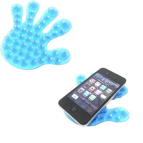 Blue Double Sided Suction Cup Phone Holder Non-Slip for Window Windshield Glass Desktop Tile Metal N2Y for iPhone 8 PLUS X, Ipod Touch 1st Gen 2nd Gen 3rd Gen 4th Gen 5 - Google Pixel 2 XL