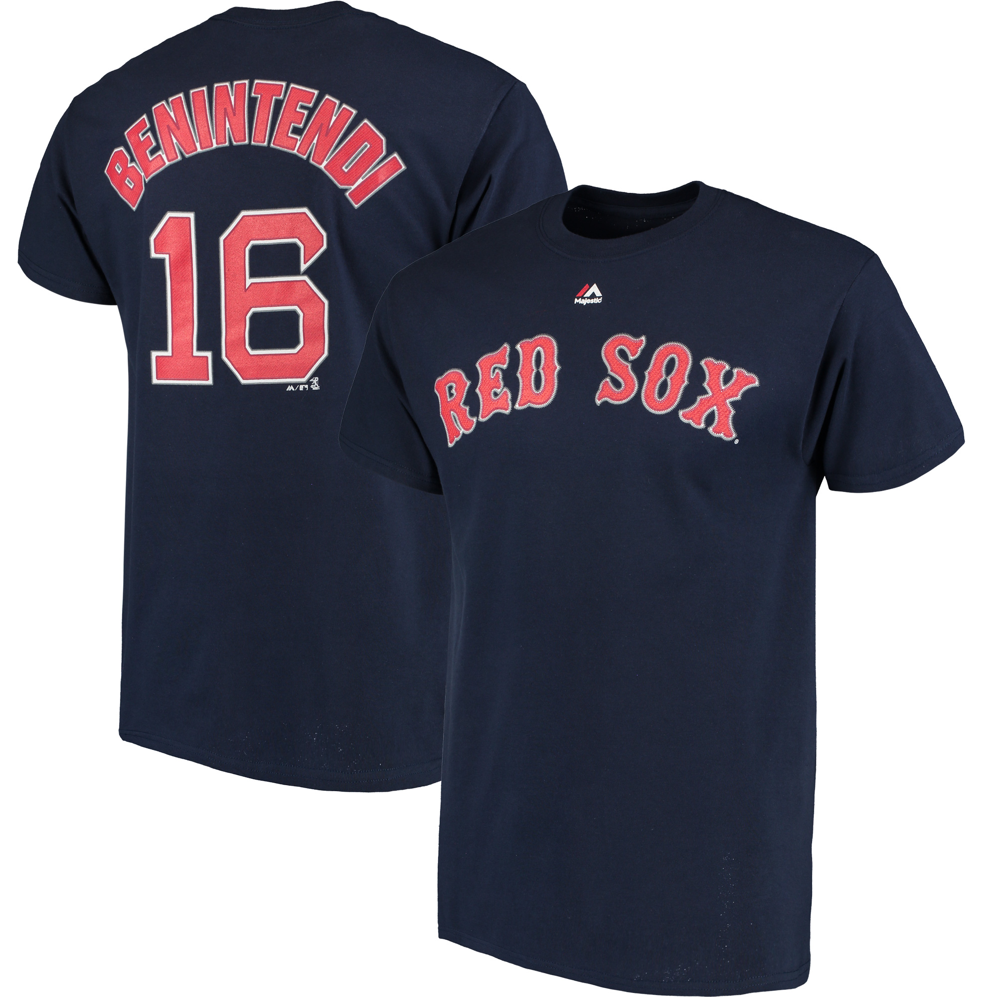 Andrew Benintendi Boston Red Sox Majestic Official Name & Number T-Shirt - Navy