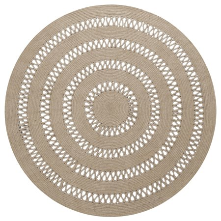 St. Croix Trading Earth First Jute Loop Stitched (5x5') Round Rug - 5' x 5' ()