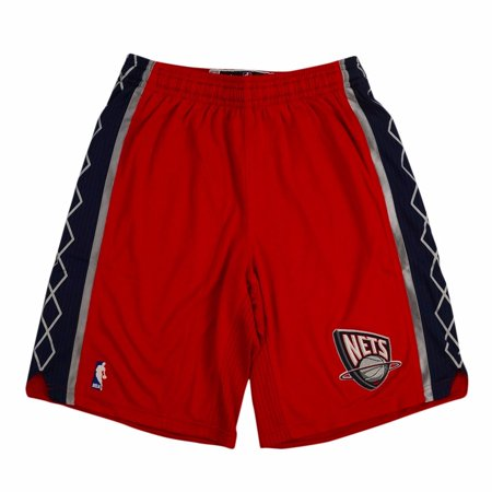 New Jersey Nets NBA Adidas Red Authentic On-Court Climacool Team Game Shorts For Men