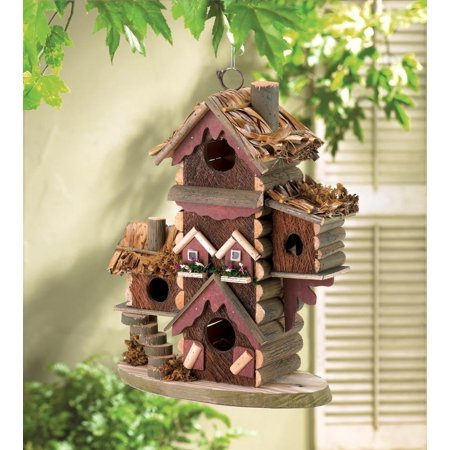 Wood Bird House Kits, Hanging Outdoor Chickadee Gingerbread-style Birdhouse, This multi-level birdhouse condo offers lovable lodgings for.., By Songbird Valley from (Gingerbread Style Birdhouse)