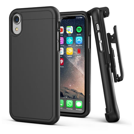 iPhone XR Belt Clip Holster Case Slim Cover with Clip (Slimshield) Black