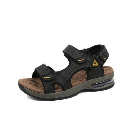 OwnShoe Hiking Sandals Men Walking Fishermen Leather Sports Fisherman Anti-Slip Water Open Strap Slides Traveling Comfortable (Rockport Walking Sandals)