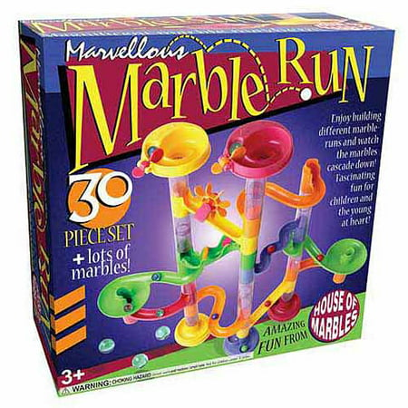 Marvellous Marble Run 30-Piece Set (Marble Toy Set)