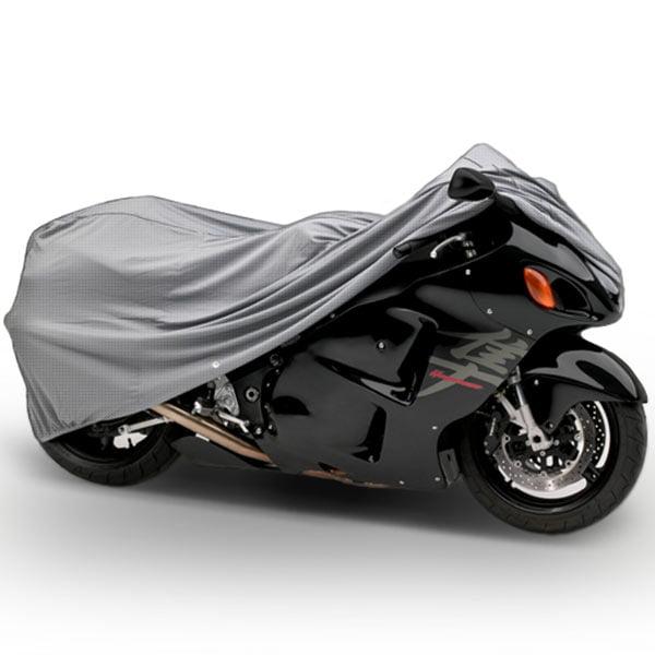 "NEH® SUPERIOR 4 LAYER MATERIAL WEATHERPROOF MOTORCYCLE SPORTBIKE BIKE COVER COVERS : FITS UP TO LENGTH 90"" - ALL SPORT BIKES + SMALL TO MEDIUM CRUISER BIKES YAMAHA HONDA SUZUKI KAWASAKI DUCATI TRIUMPH"