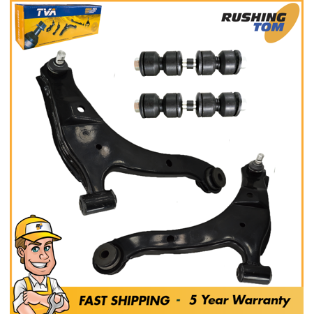 Pair (2) Lower Control Arms With Ball Joints And Pair (2) Sway Bar - Quattro Sway Bar Link