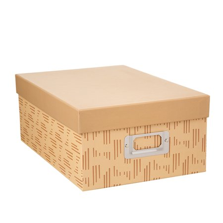 Decorative Photo Storage Box: Tan (Cropper Hopper Photo Storage)