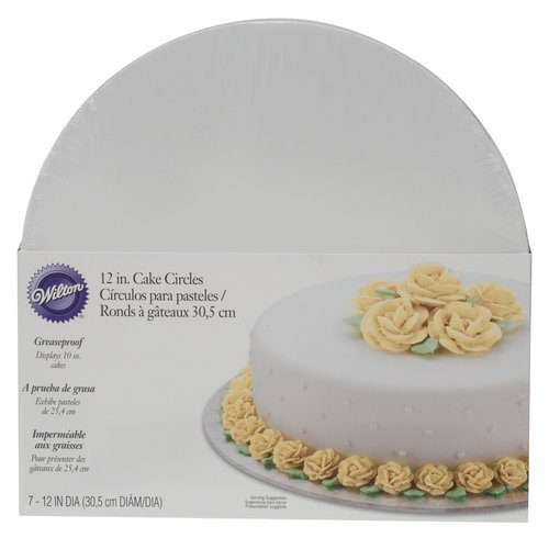 "Wilton 12"" White Cake Board, 7 Count"