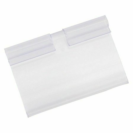 SHOPFIVE Price Label Holder Clear Plastic Shelf Retail Label Holder Sign Design (Best Retail Store Design)