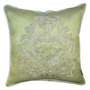 Miranda 18 x 18-inch Green Baroque Throw Pillow