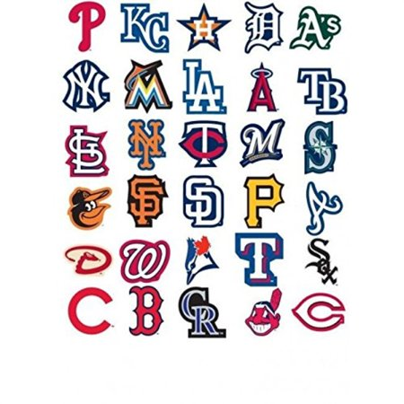 White Sox Decals (30 MLB Stickers Complete Set. All 30 Baseball Teams. Major League Baseball Team Logo Pack. Yankees Red Sox Dodgers Cubs Giants T)