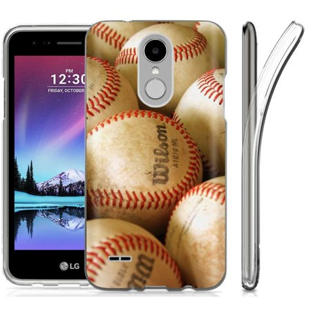[SlickCandy] LG Zone 4/Fortune 2/Aristo 2/Tribute Dynasty/Risio 3/K8[K8 Plus] 2018 [Clear] Total Defender Soft Slim Phone Case [BaseBall