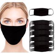 Simply Genius Reusable Cotton Cloth Face Masks, Black, 5 or 25 Pack