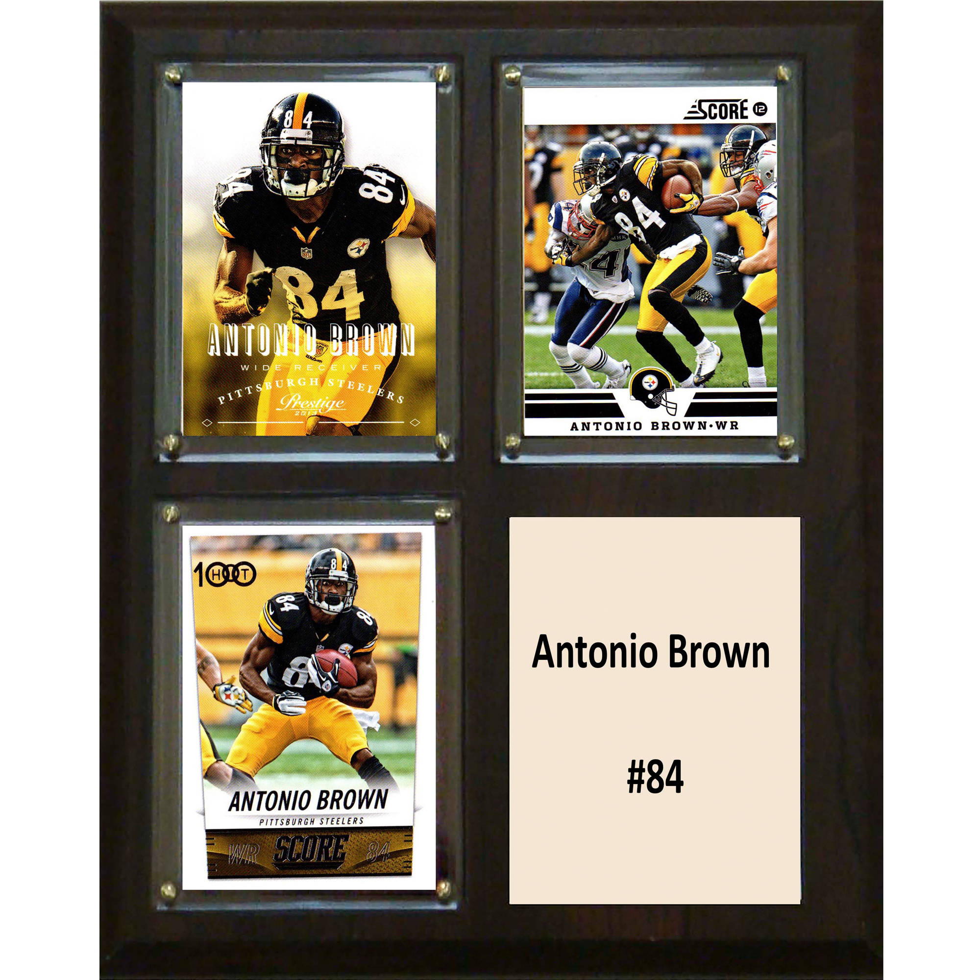 C&I Collectables NFL 8x10 Antonio Brown Pittsburgh Steelers 3-Card Plaque