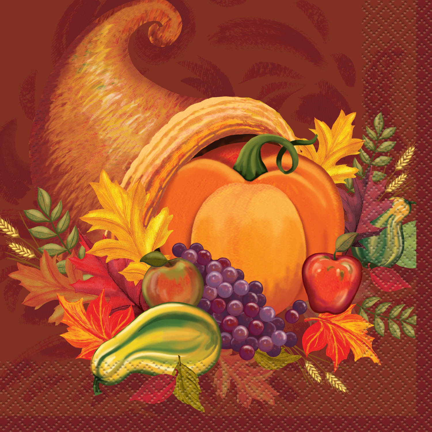 Harvest Fall Party Napkins, 16ct