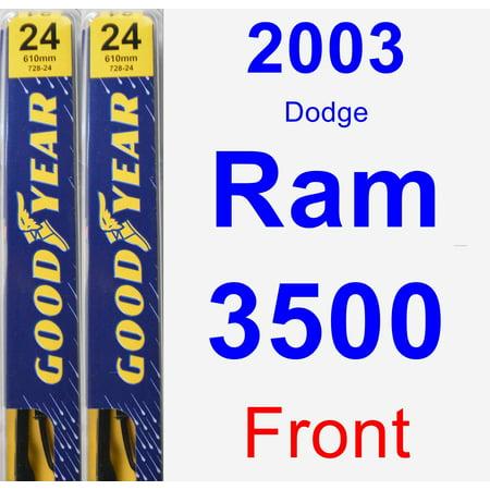 2003 Dodge Ram 3500 Wiper Blade Set/Kit (Front) (2 Blades) -