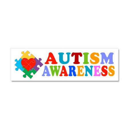 CafePress - Autism Awareness Heart - Car Magnet 10 x 3](Autism Car Magnet)