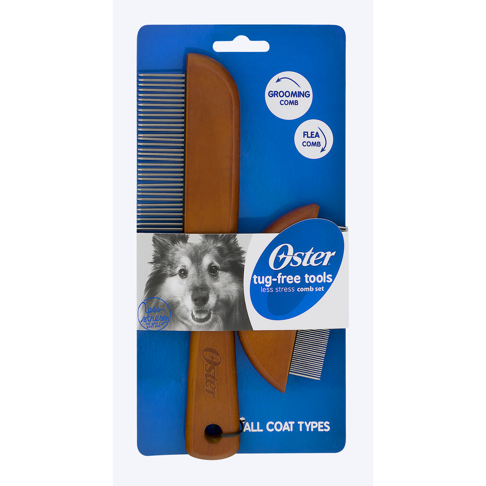 Oster Less Stress Tug-Free Dog Grooming & Flea Comb Set
