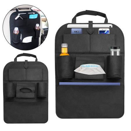 Back Seat Entertainment Organizer - Auto Car Seat Back Multi-Pocket Hanging Bag Storage Organizer Holder Accessory