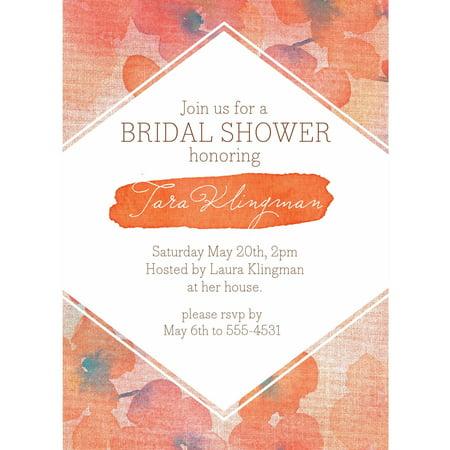 Floral weave standard bridal shower invitation walmartcom for Walmart wedding shower invitations