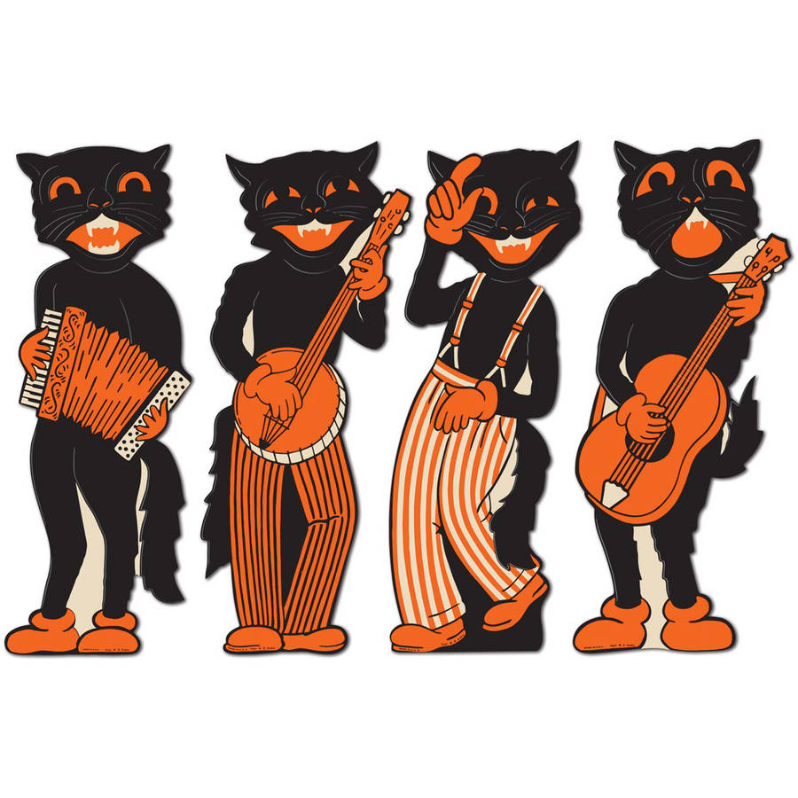 Beistle Scat Cat Band Cutouts