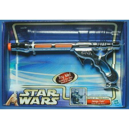 Star Wars Attack of The Clones Jango Fett Light and Sound Blaster Hasbro](Star Wars Jango Fett)