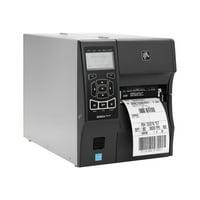 "Zebra ZT410 Direct Thermal/Thermal Transfer Printer - Monochrome - Desktop - Label Print - 4.09"" Print Width - 14 in/s Mono - 300 dpi - 256 MB - Bluetooth - USB - Serial - Ethernet - LCD - 4.49"" Label"