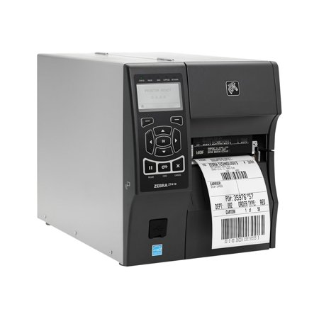 "Zebra ZT410 Direct Thermal/Thermal Transfer Printer - Monochrome - Desktop - Label Print - 4.09"" Print Width - 14 in/s Mono - 300 dpi - 256 MB - Bluetooth - USB - Serial - Ethernet - LCD - 4.49"" Label"