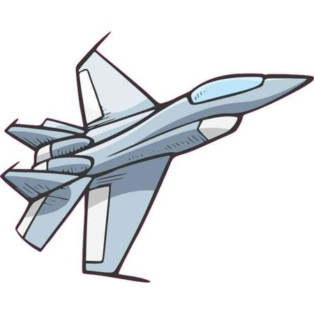 5in x 4in Military Airplane Jet Bumper Sticker Decal Car Window Stickers  Decals