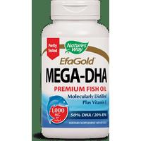 Natures Way EfaGold Mega-DHA Premium Fish Oil + Vitamin E Softgels 1000 Mg 60 Ct