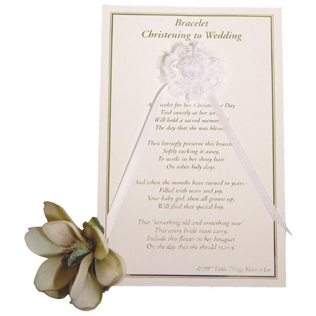 Little Things Mean a Lot Girls Christening to Wedding Bracelet - One Size/White