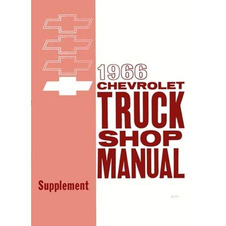 Bishko OEM Repair Maintenance Shop Manual Bound for Chevy Truck All Models - Supplement To 1963 1966 (1966 Motors Auto Repair Manual)