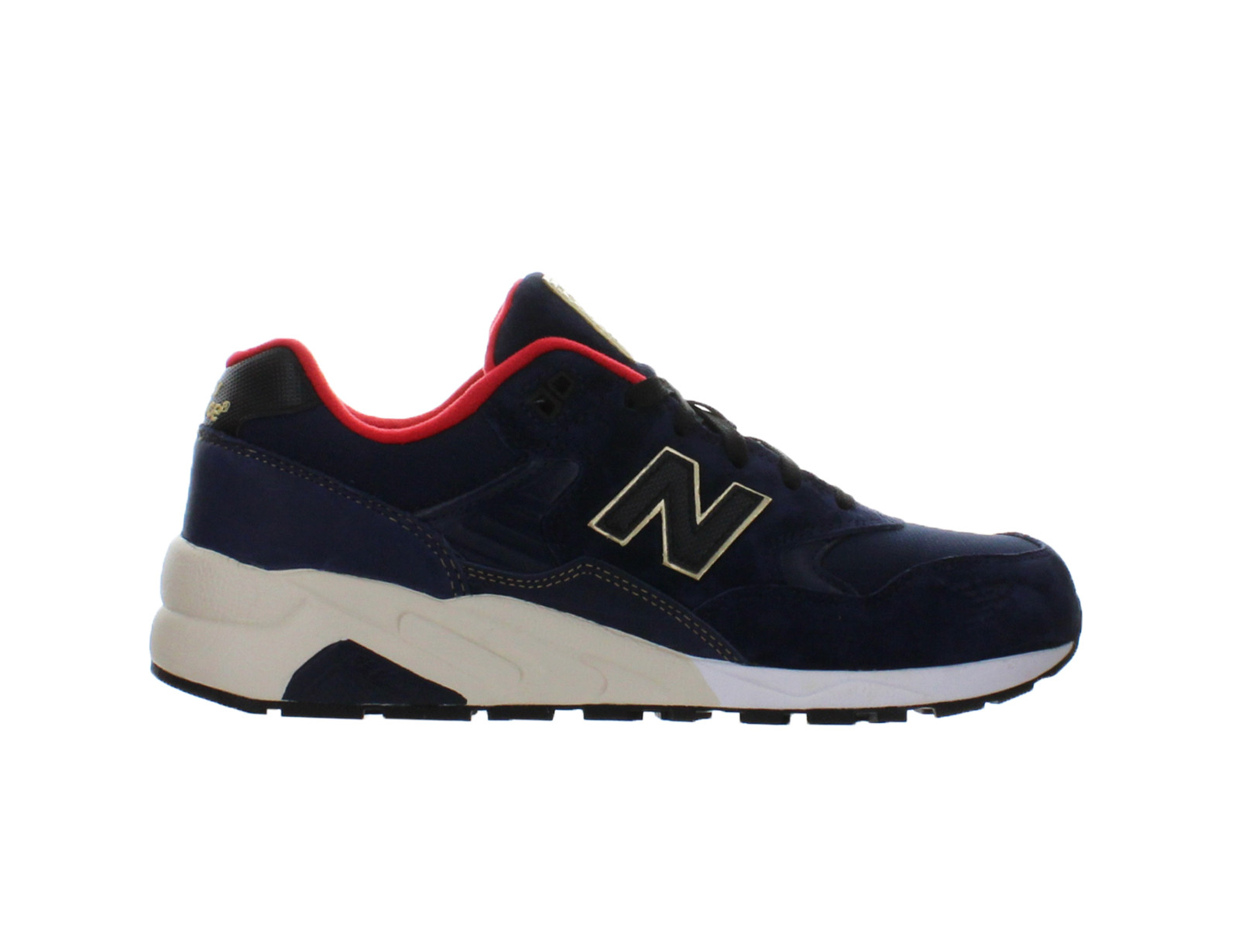 Click here to buy Mens New Balance 580 Elite Limited Edition Navy Black Gold Red White M by New Balance.