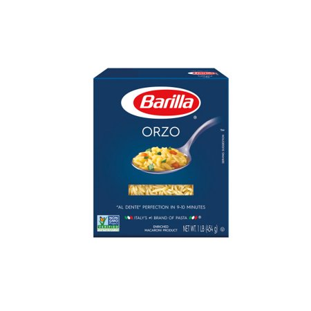 (6 Pack) Barilla Pasta Orzo, 16 oz At Barilla, were passionate about pasta. After all, we have been pasta makers since 1877. As an Italian family-owned food company, Barilla pasta is synonymous with high quality and  al dente  perfection every time. Our Orzo is made from the finest durum wheat and is non-GMO verified, peanut-free and suitable for a vegan or vegetarian diet.